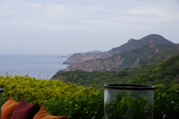 View from Amanoi Outdoor Dining.- Vinh Hy, Vietnam