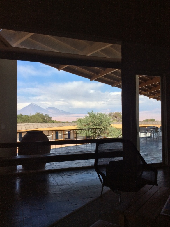View of the Volcano from Explorer Atacama  Lobby