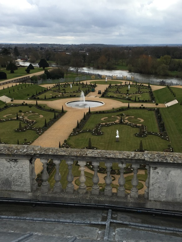 View from the rooftop of Hampton Court