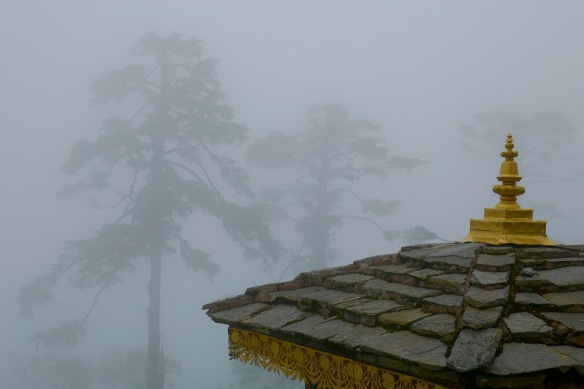 Dochlua pass between Thimpu and Panakha Bhutan