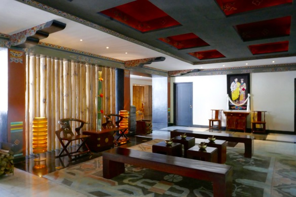 Lobby at Uma Resort- Paro Bhutan