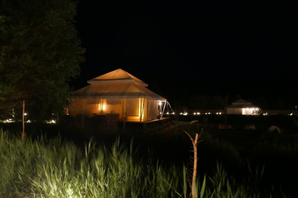 Out tent at night Chamba Luxury Tented Camp Ladakh