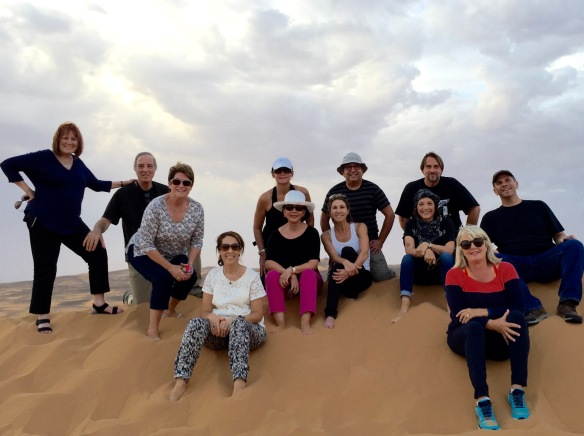 Our intrepid group on top of a dune