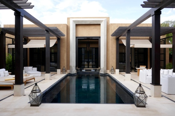 Enormous Pool Villa Mandarin Oriental Marrakech. Absolutely stunning. They even have a heated tub!